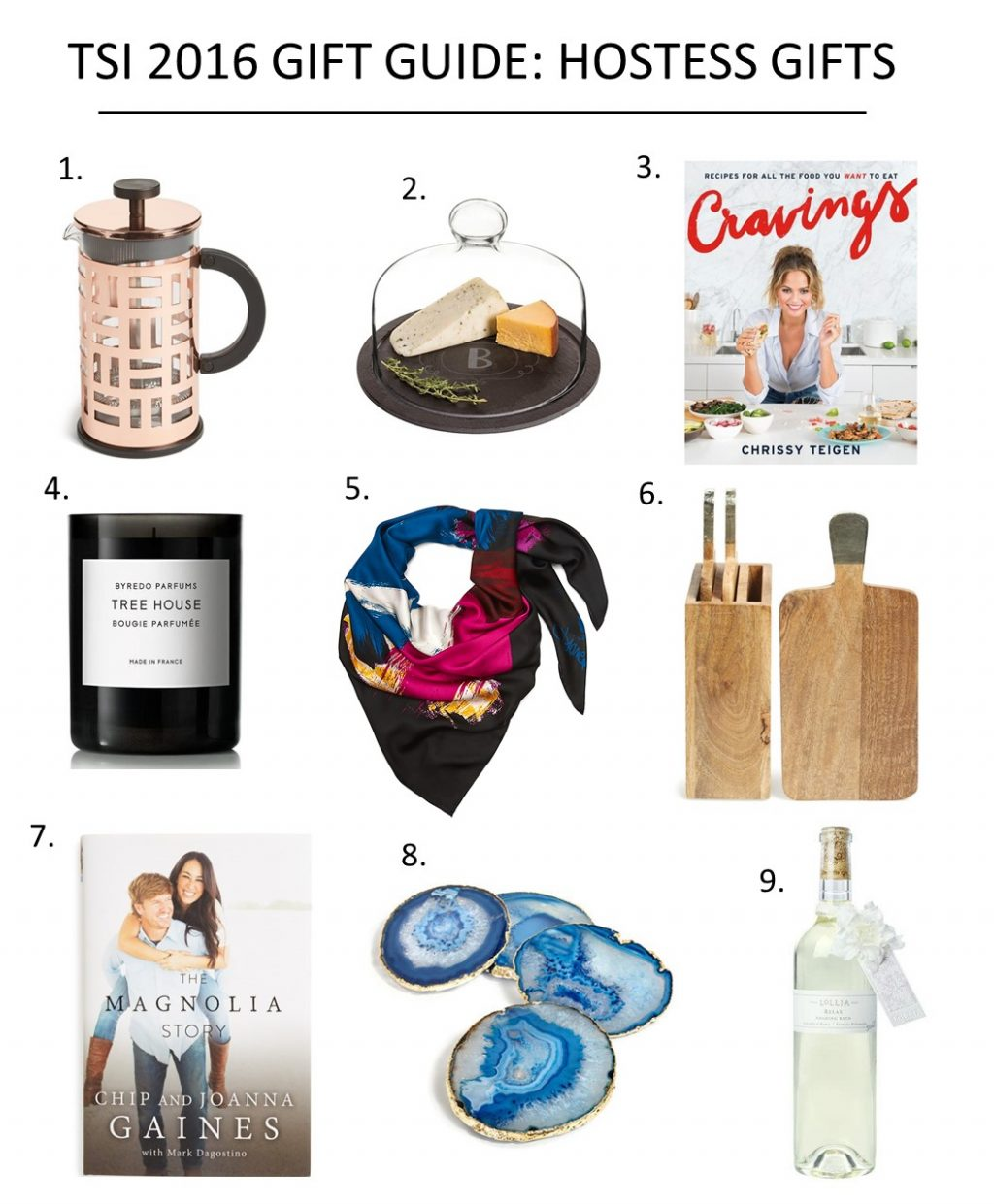 Tsi 2016 gift guide hostess gifts for Holiday party gift ideas for the hostess